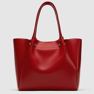 NWT Zara Red Tote Bag.